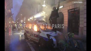 GILETS JAUNES Image inédite non censurée, de l'intérieur de la Manif du Samedi 1/12/ 2018 à Paris
