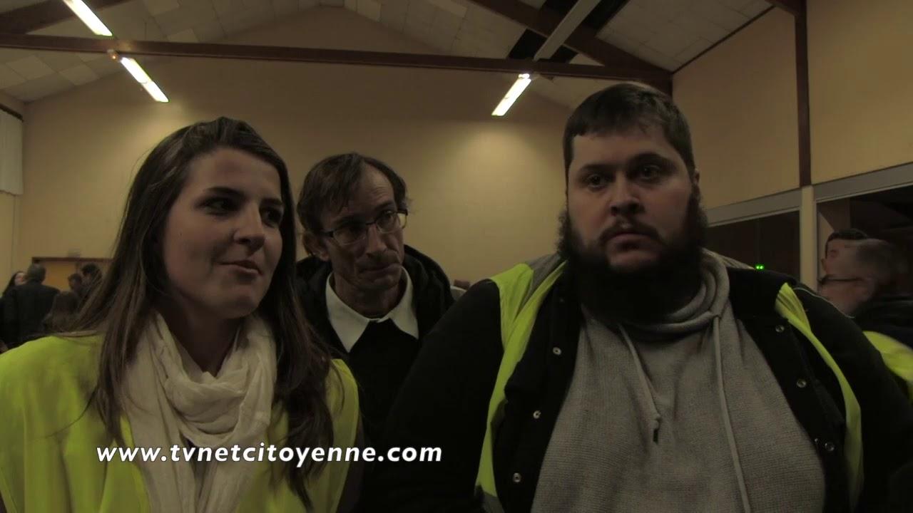 1ère réunion en Savoie, unitaire et inter-départementale des Gilets Jaunes : prés de 400 personnes