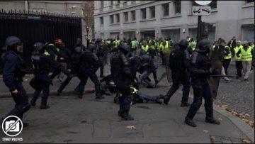 Acte 2 des Gilets Jaunes à Paris / barricades sur les Champs-Elysées – 24 novembre 2018
