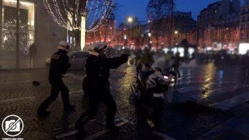 Acte 6 des Gilets Jaunes à Paris – un policier dégaine / 22 décembre 2018