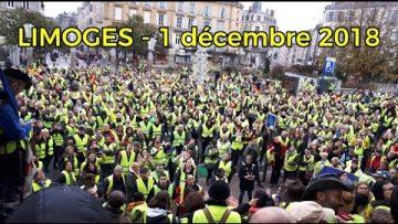 GILETS JAUNES – 1 DÉCEMBRE 2018 – LIMOGES