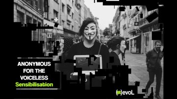 Anonymous for the voiceless : Cube de la vérité à Lille