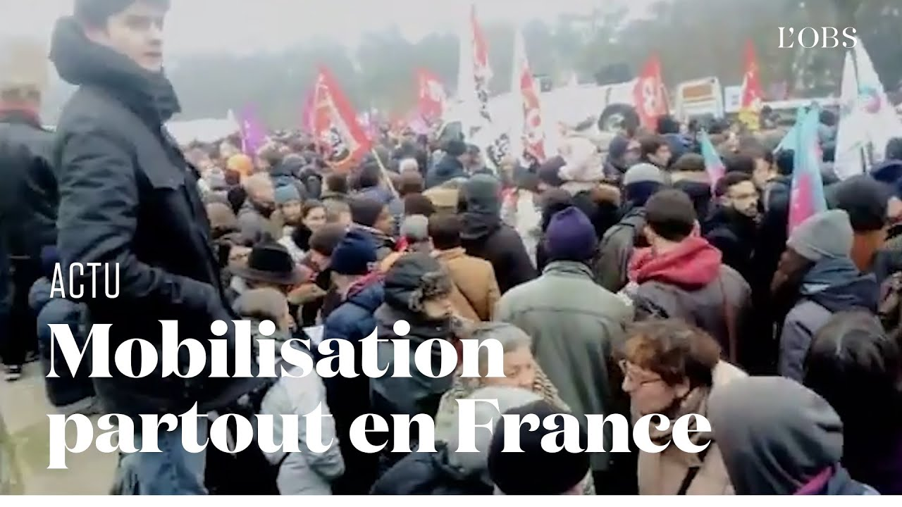 Des manifestations partout en France pour la grève générale