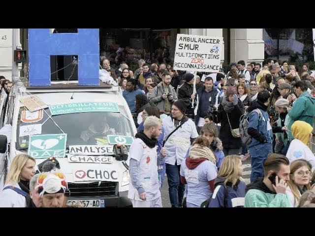 Hôpital Public : manifestation massive des blouses blanches (14 novembre 2019, Paris)