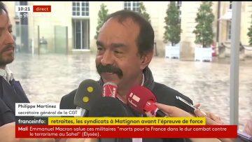 Interview de Philippe Martinez à la sortie de son entretien avec Édouard Philippe