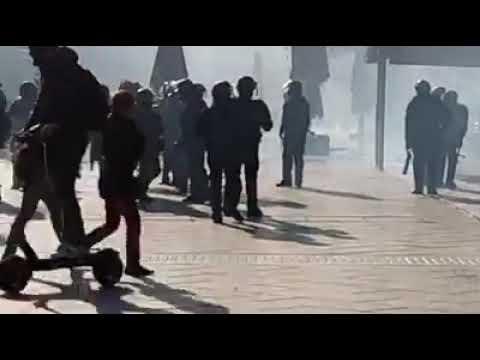 Ambiance de guerre … Montpellier