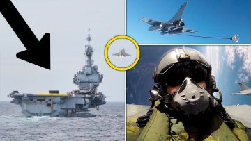 Charles de Gaulle: Porte-avions et catapultages de rafales en pleine mer!