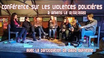 Conférence de presse sur les violences policières à Amiens