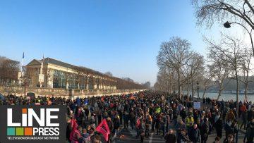 Forte mobilisation contre la réforme des retraites / Paris