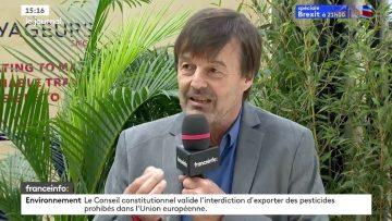Interview de Nicolas Hulot au sommet international ChangeNOW au Grand Palais
