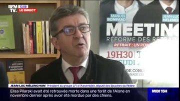 """Jean-Luc Mélenchon (LFI) : """"Les débats à l'assemblée se déroulent dans une ambiance volcanique."""""""