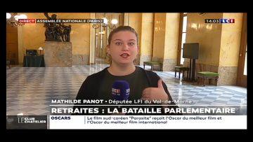 """Mathilde Panot (LFI): """"Nous faisons notre travail d'opposition, de dire respectez la démocratie"""""""