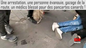 Une personne évanouie suite à un gazage