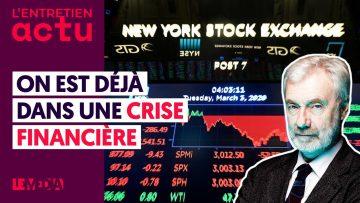 """""""ON EST DÉJÀ DANS UNE CRISE FINANCIÈRE"""" – PAUL JORION"""