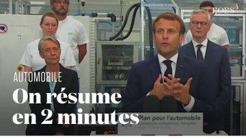 Les annonces à retenir du plan pour l'automobile d'Emmanuel Macron