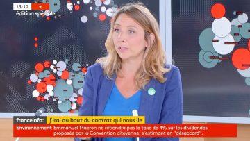Bonne analyse de Sandra Regol/EELV de la réponse de Macron à la Convention Citoyenne pour le Climat