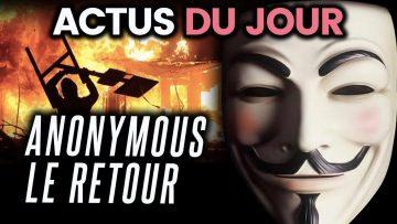 Donald Trump réfugié dans un bunker, Anonymous de retour… Les actus du jour