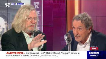 Echange sous haute tension entre Bourdin et le Pr. Didier Raoult