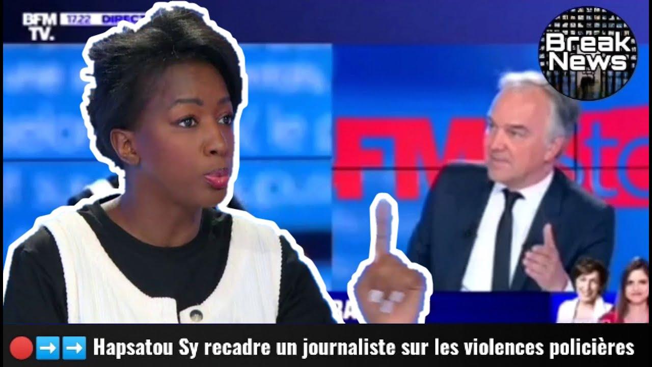Hapsatou Sy recadre deux journalistes sur les violences policières