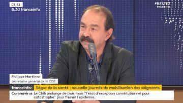 """Philippe Martinez (CGT): """"Le diagnostic il est fait ce sont des réponses qu'attendent les soignants"""""""