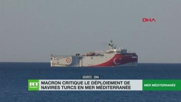 Emmanuel Macron critique le déploiement naval de la Turquie en Méditerranée