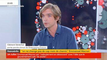 excellente itw de Clément Sénéchal, porte-parole Climat de Greenpeace