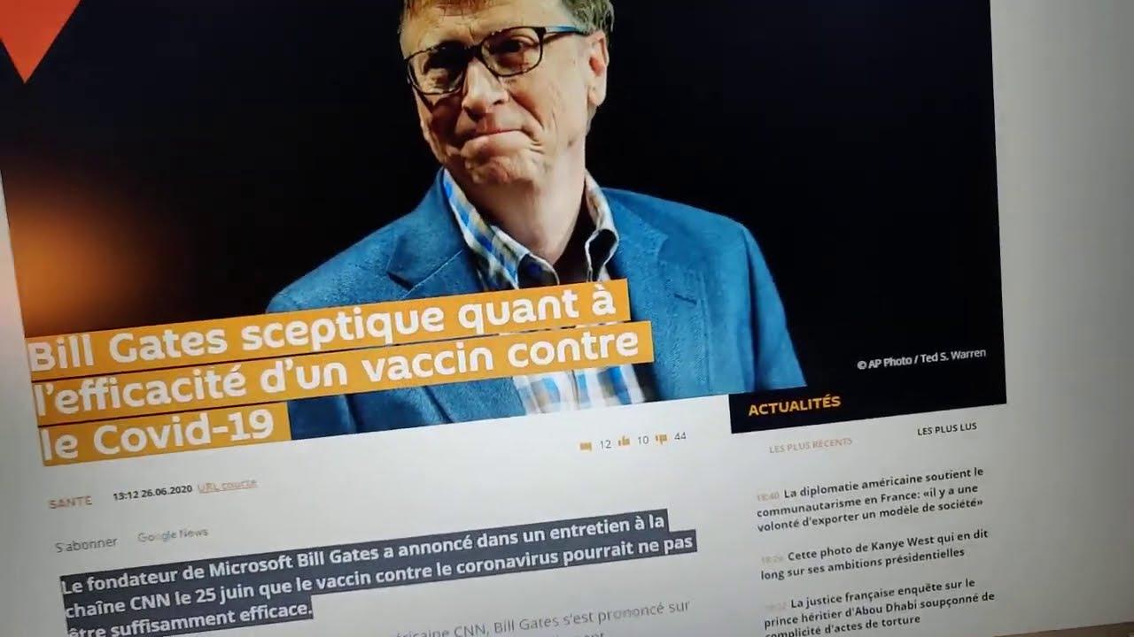 L'UE accueille les OGM pour LES vaccins et Bill Gates doute de l'efficacité d'un vaccin