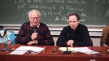 Bernard Friot et Frédéric Lordon Conférence Débat Projet d'Utopie Faculté Tolbiac