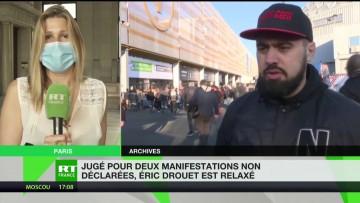 Eric Drouet relaxé en appel pour manifestations non déclarées