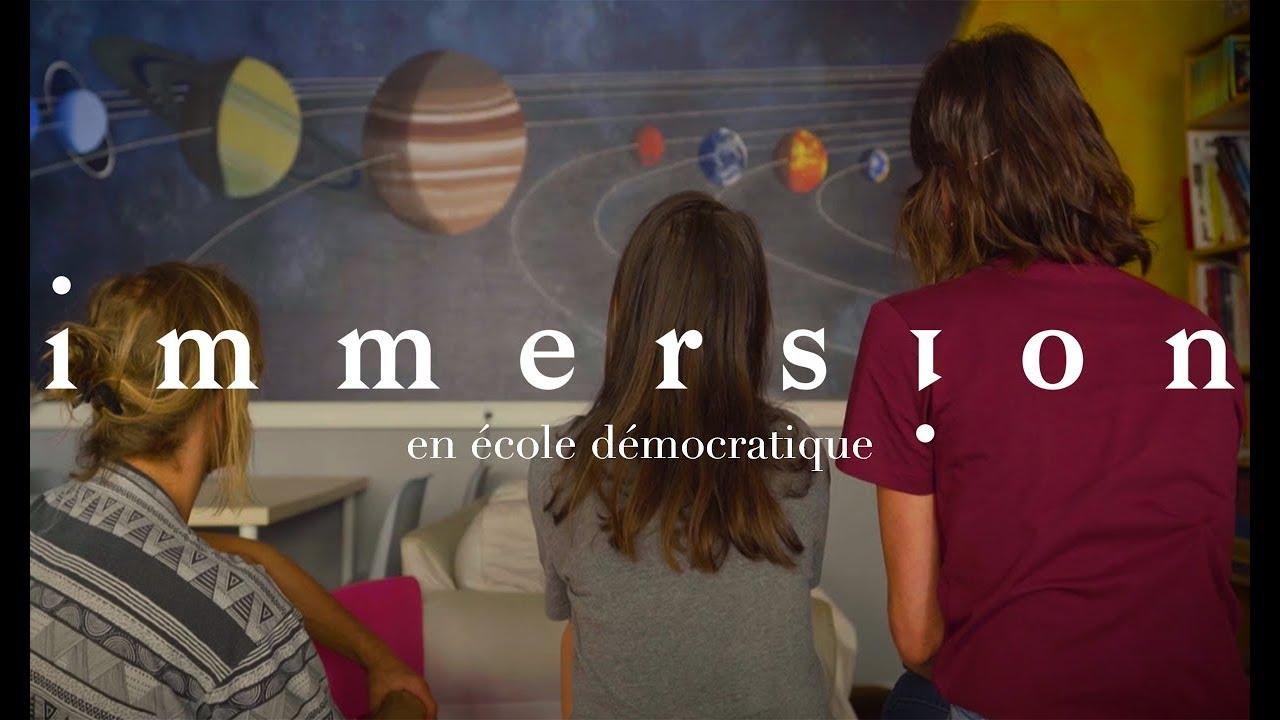 Immersion en école démocratique – Éducation