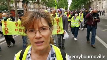 """""""Le droit à l'expression est de plus en plus bafoué"""" Marie-Hélène co-déclarante de la manifestation"""