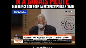 Le Pr Didier Raoult se défend au sénat