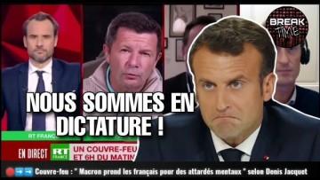 """Couvre-feu : """" Nous sommes en dictature """" la colère Denis Jacquet contre Macron"""
