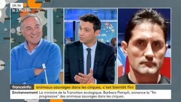 Fin des animaux sauvages captifs: débat avec Allain Bougrain-Dubourg, et les cirques Zavatta, Gruss