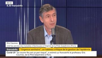 Très bonne itw du Pr Éric Caumes, chef du service des maladies infectieuses à la Pitié Salpêtrière