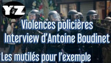 Violences policières.Interview d'Antoine Boudinet dont la main a été arrachée par une grenade GLI-F4