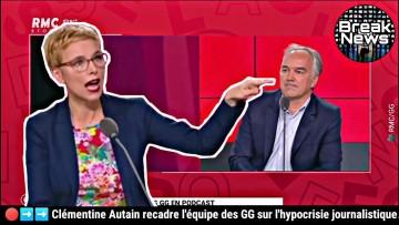 Clémentine Autain recadre les des GG sur l'hypocrisie journalistique