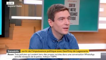 """Excellente itw de Geoffroy de Lagasnerie pour la sortie de """"Sortir de notre impuissance politique"""""""