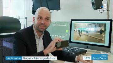 Journalistes interpellés (manifestation loi « sécurité globale »)