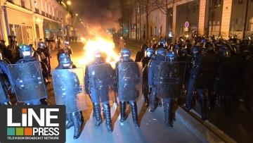 Manif anti violences policières. Incidents / Paris – France 24 novembre 2020