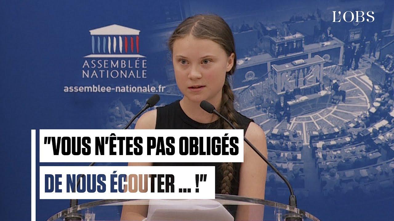 A l'Assemblée nationale, Greta Thunberg ironise face aux attaques des députés
