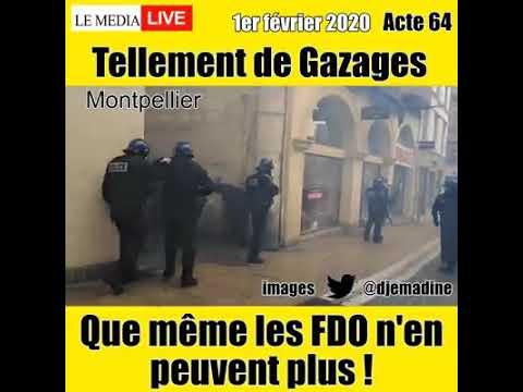 Acte 64 Montpellier – tellement de gazages que même les FDO n'en peuvent plus