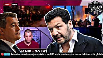 Arié Alimi recadre une journaliste et un CRS sur les bavures policières