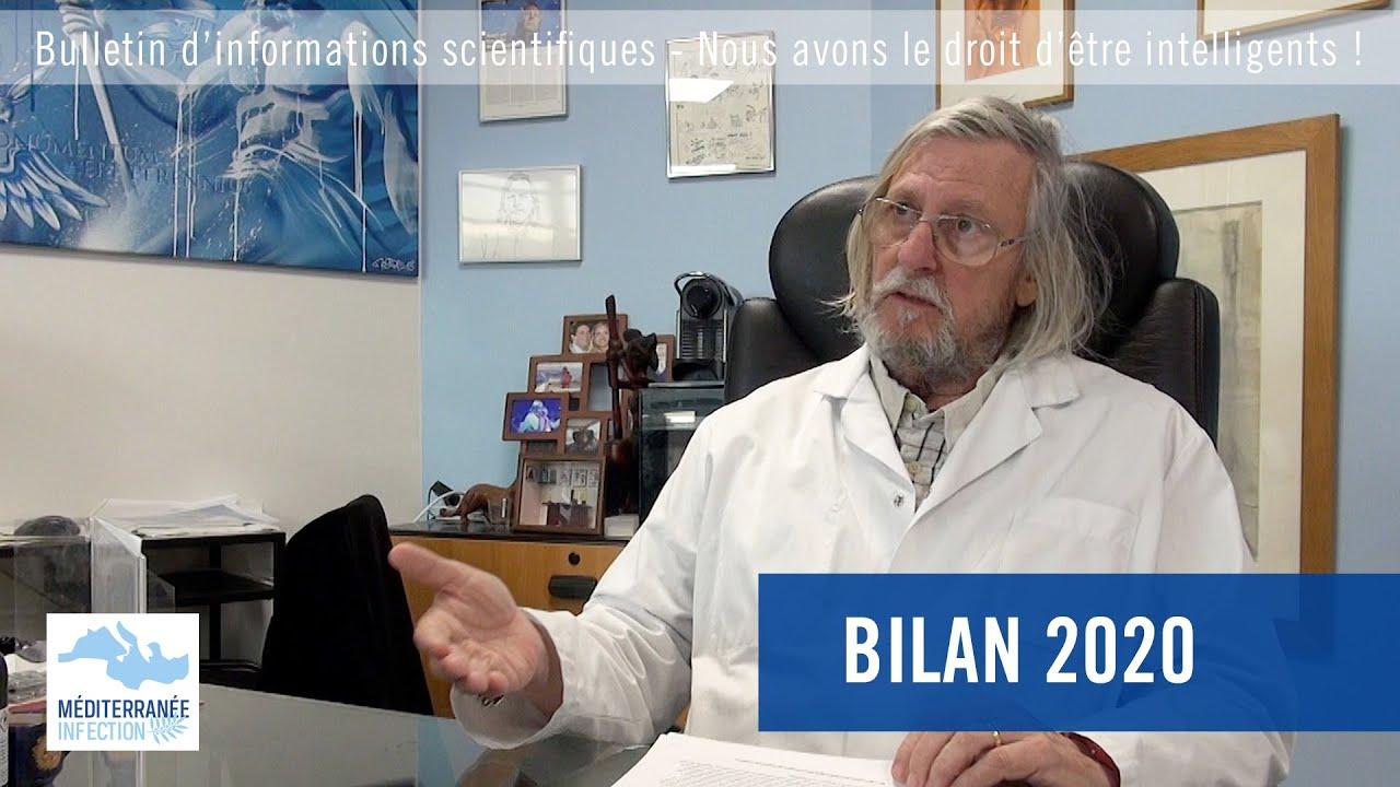 BILAN 2020 par le Pr Raoult