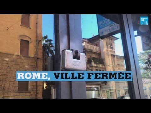 Coronavirus : à Rome, des scènes jamais vues de rues désertes