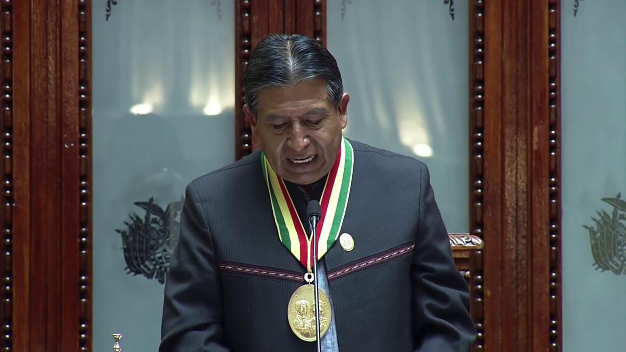 En français: Discours d'investiture du vice-président de Bolivie M. David Choquehuanca