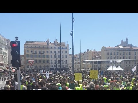 Gilets Jaunes Acte 29 Marseille(1/06/19 Vieux Port)