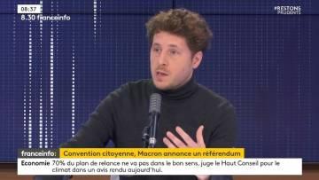 """Itw de Julien Bayou (EELV): Macron face à la Convention Citoyenne, la culture """"pas essentielle"""""""