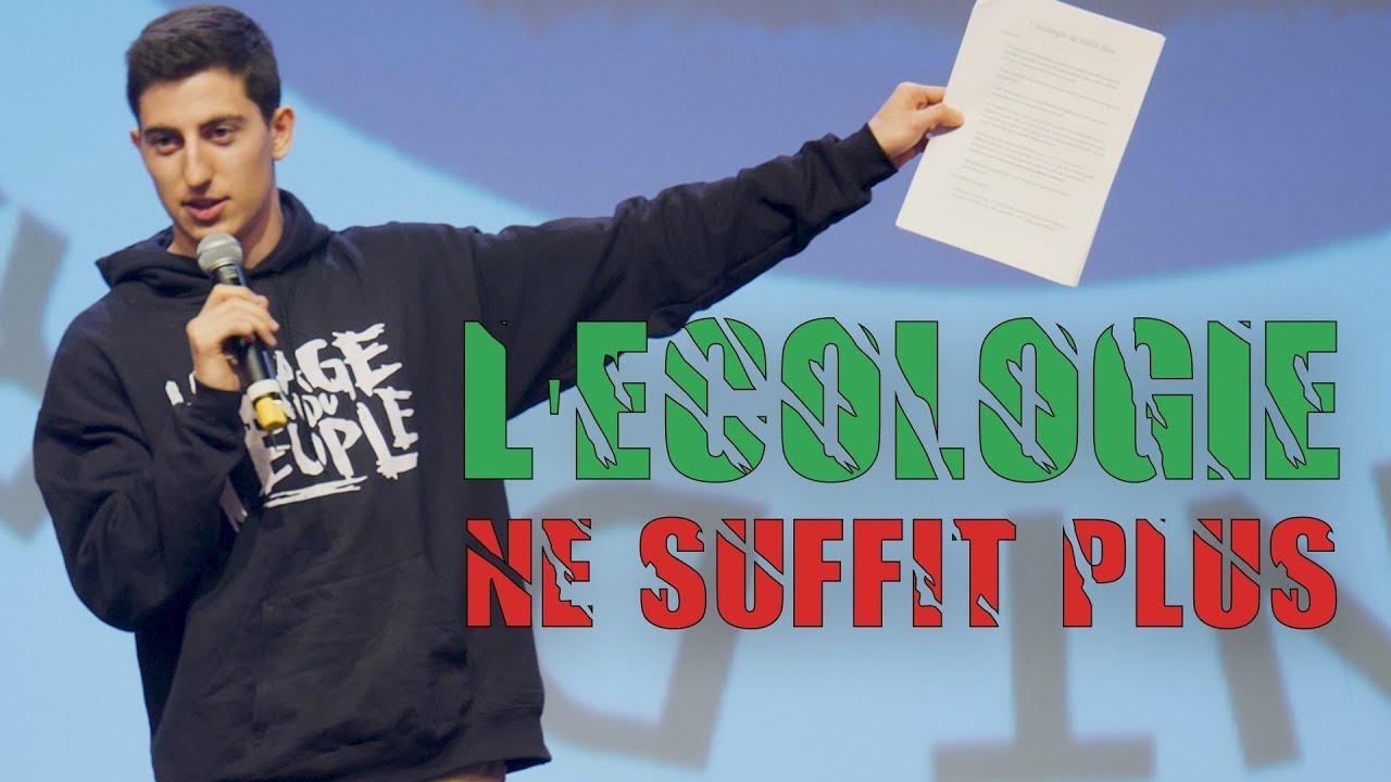 L'ÉCOLOGIE NE SUFFIT PLUS ! – Conférence à Grenoble