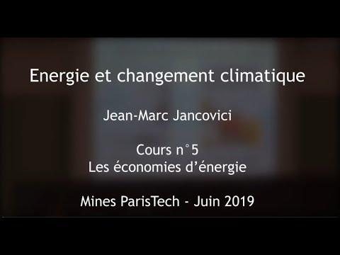 Les économies d'énergie – Cours des Mines 2019 – Jancovici